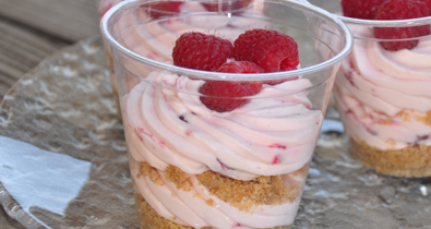 No Bake Raspberry Lemon Cheesecakes In a Cup